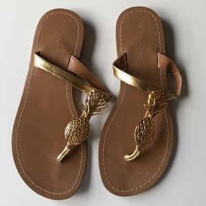 🍍🌴Lilly Pulitzer for Target gold sandals🍍